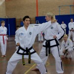 Mrs Britton & Master Rhee demonstrate at the ITFA IIC, April 2015