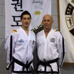 Master Andrew Rhee and Mr Doug Swain, V Dan, Doug's Dojang
