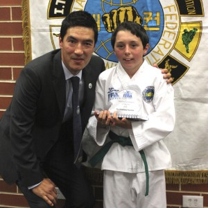 Master Rhee with Zac