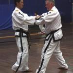 Master Rhee and Mr Britton at the ITFA IIC April 2014