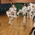 Foot Sparring - blocking with the feet