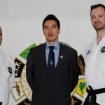 Master Rhee with ITFA Sale Black Belts