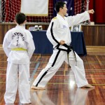 Senior Master Rhee demonstrates to the class